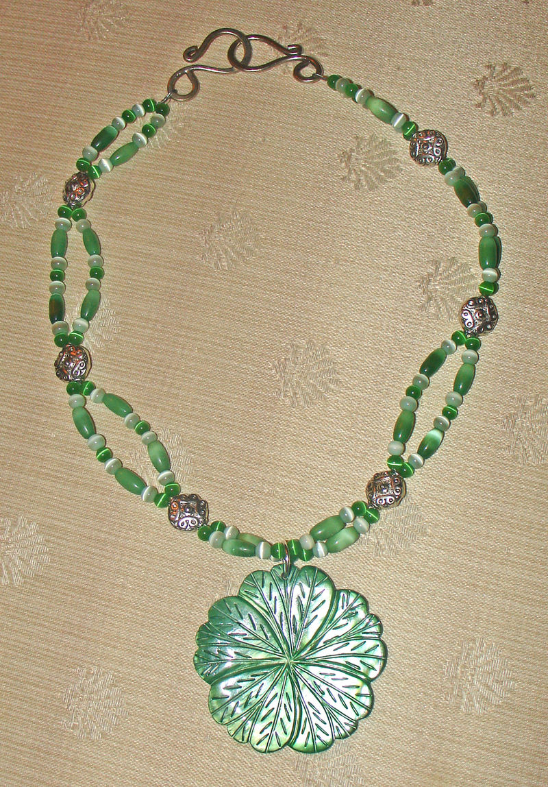 Green shell pendant
